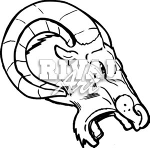 300x296 Rams Clipart Free