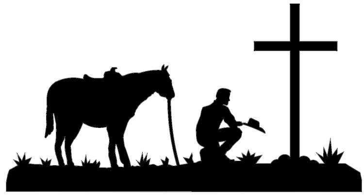 750x401 Western Ranch Silhouette Clipart