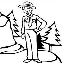 217x222 Free Park Ranger Clipart