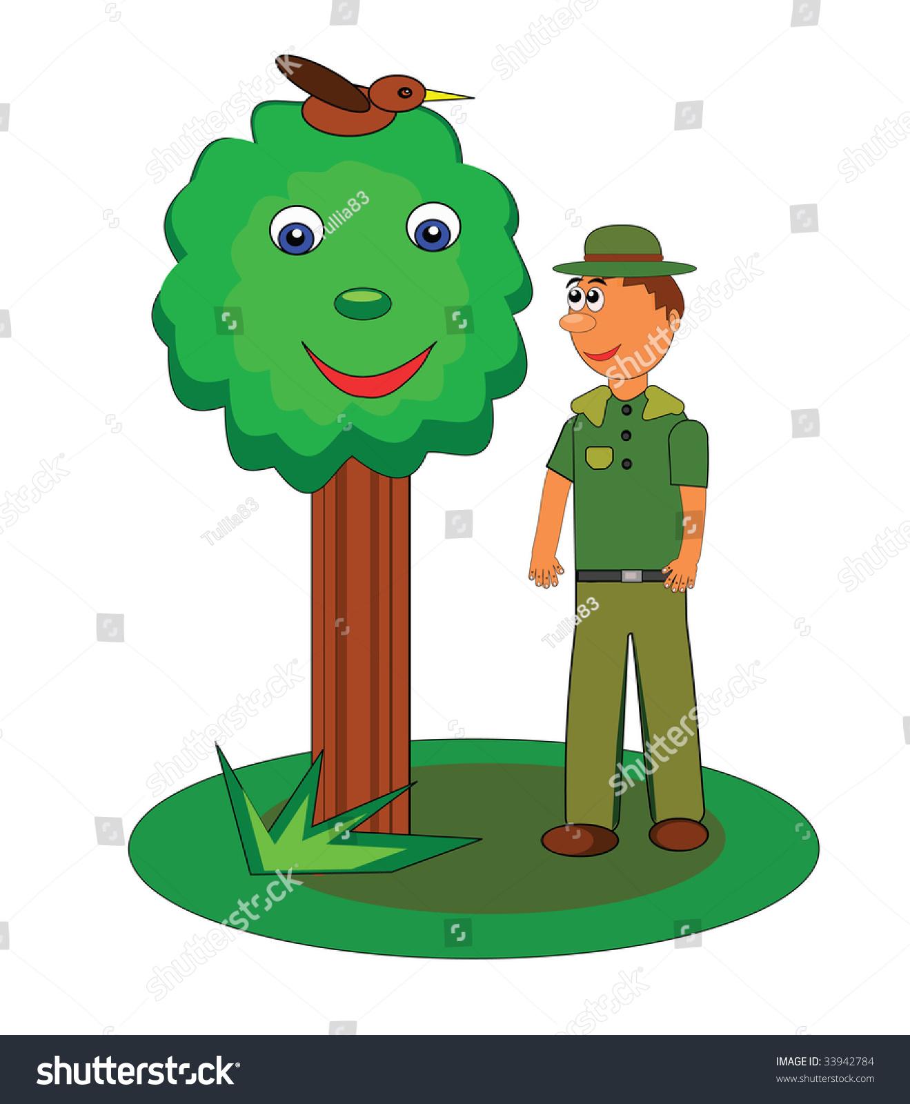 1319x1600 Pine Tree Clipart Park Ranger