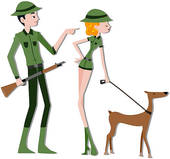 170x159 Stock Illustration Of Forest Rangers K2108058