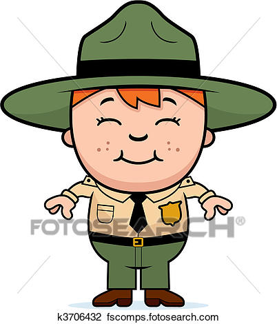 402x470 Clipart Of Kid Park Ranger K3706432