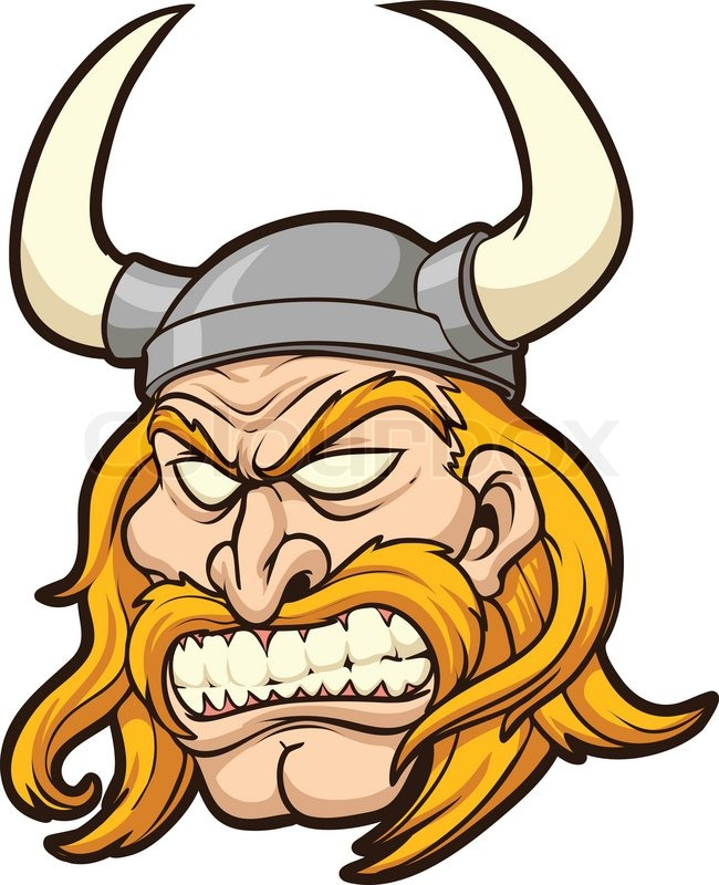 650x800 Viking Head. Vector Clip Art Illustration With Simple Gradients