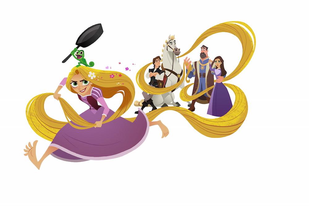 1000x667 Long Hair Clipart Disney Rapunzel