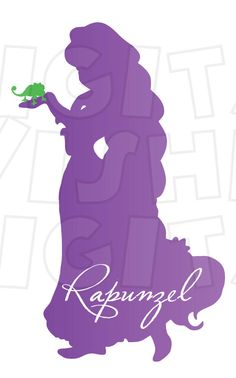 236x378 Rapunzel Silhouette Poster By