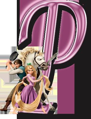 319x415 Alfabeto Decorativo Enrolados Rapunzel Em Png Rapunzel And Clip Art