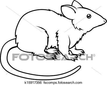 450x357 Clip Art Of Stylised Rat Illustration K15917356