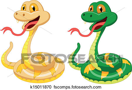 450x307 Clipart of Cute snake cartoon k15011870