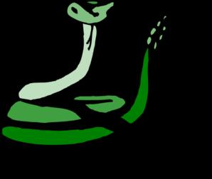 298x252 Green Rattle Snake Clip Art