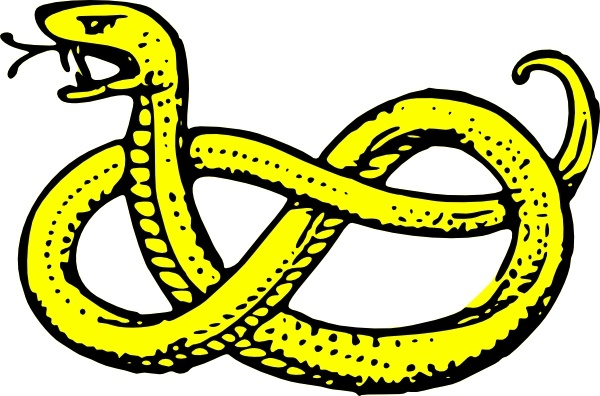 600x396 Snake clip art Free vector in Open office drawing svg ( svg