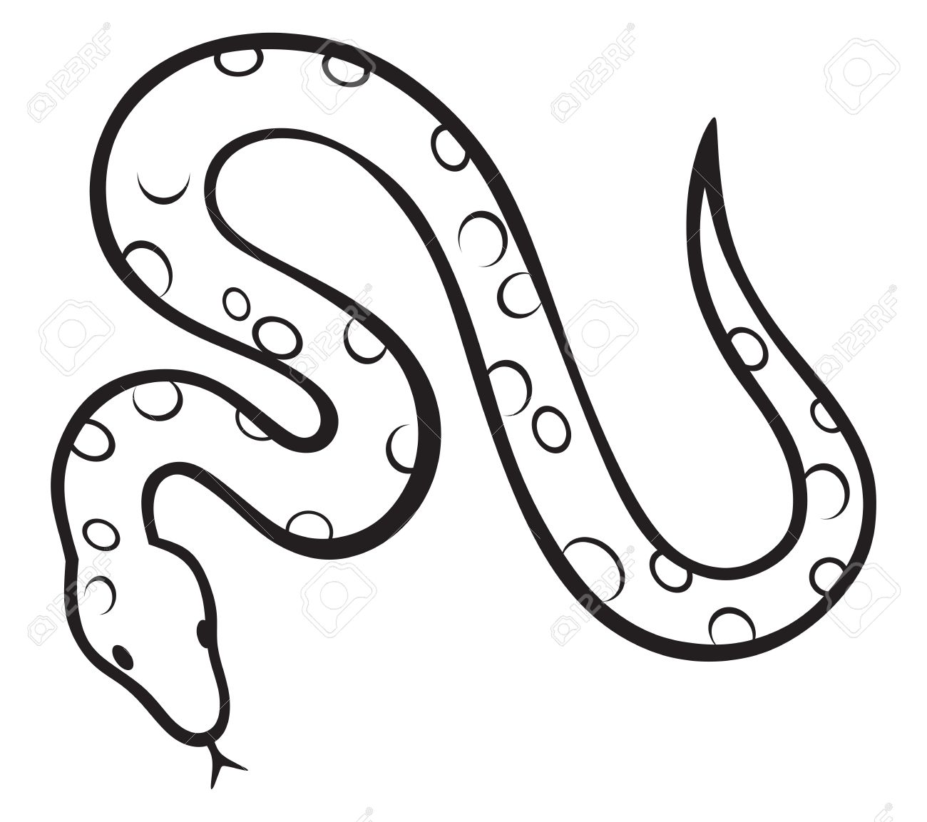 1300x1153 Anaconda Clipart Black And White