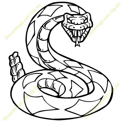 500x500 Serpent Clipart Rattlesnake