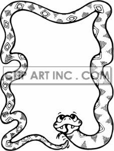 227x300 Black And White Frog Fishing Border Scrapbook Art