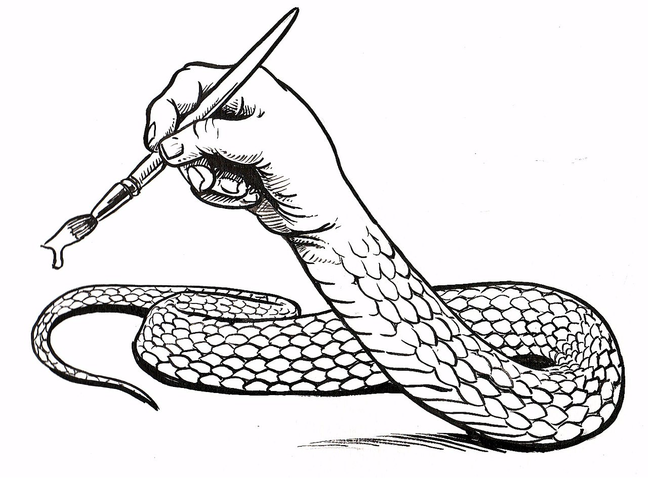 1280x945 Drawing With The Snake Artist