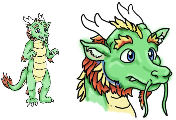600x409 Asian Dragon Fursuit Drawing By Dragoncid