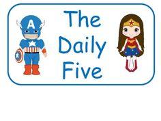 236x177 Superhero Daily 5 Rotation Chart Reading Ideas