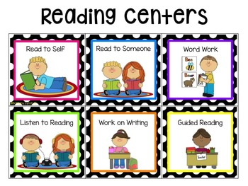 350x263 Reading And Math Center Rotation Cards (Editable) By Tickled Pink