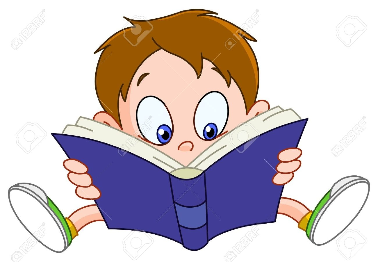 1300x901 Comic Clipart Boy Reading A Book