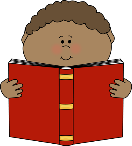 452x500 Little Boy Reading A Book Clip Art