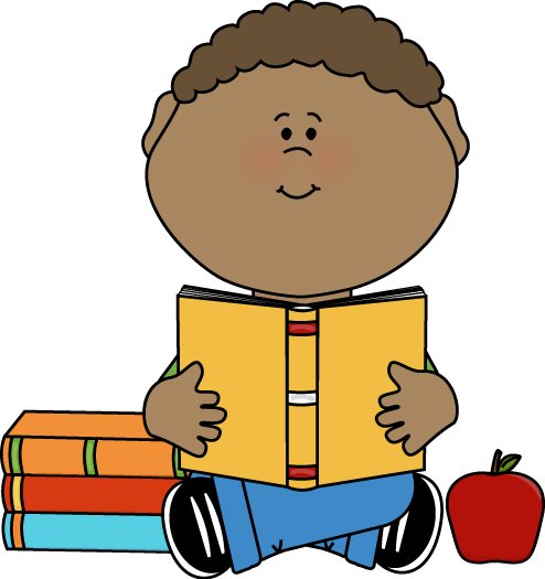494x525 Little Boy Reading A School Book Clip Art