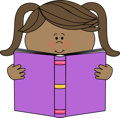 500x492 Little Girl Reading A Book Clip Art