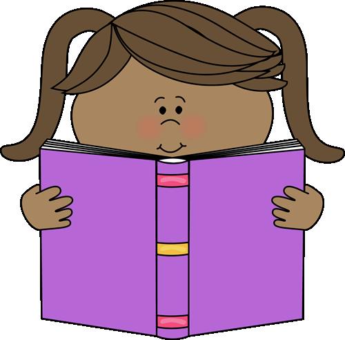 500x492 Little Girl Reading A Book Clip Art