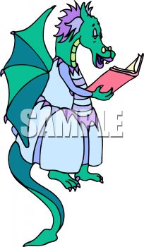 204x350 Mother Dragon Reading A Book