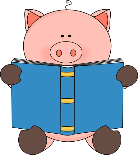 444x500 Reading Books Clipart