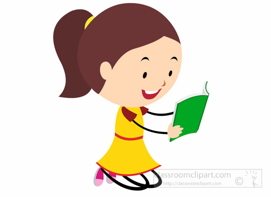 550x400 Reading Clipart Cute Girl Stick Figure Reading Book Clipart 6830