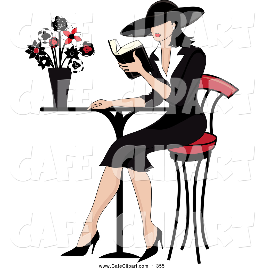 1024x1044 Vector Clip Art Of A Beautiful French Woman Reading A Book