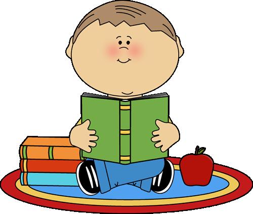 500x422 Boy Reading School Book Clip Art