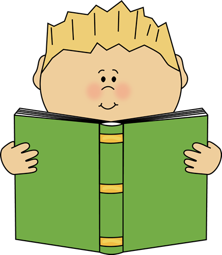 436x500 Boy Reading A Book Clip Art