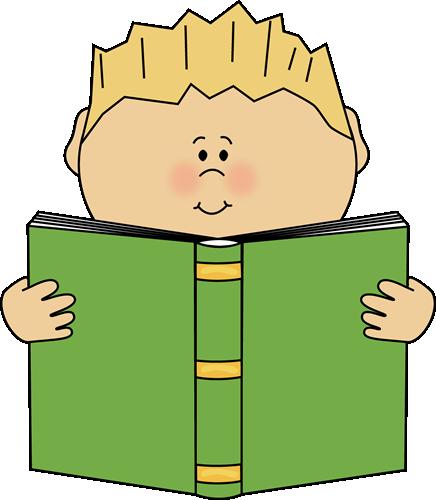 436x500 Boy Reading A Book Clip Art