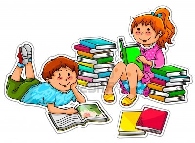 400x295 Comic Clipart Boy Reading A Book