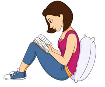 210x175 Free Reading Clipart