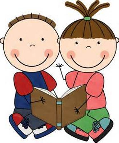 418x500 Free School Girl Reading Book Clip Art