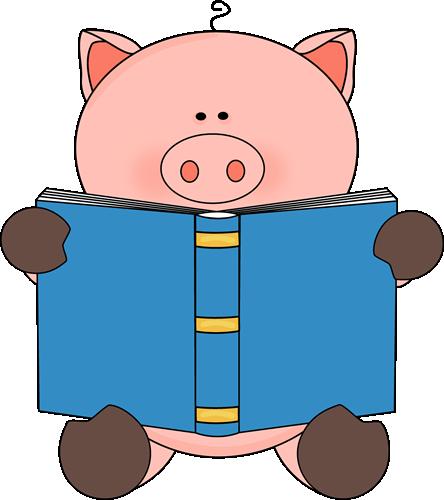 444x500 Reading Books Clipart