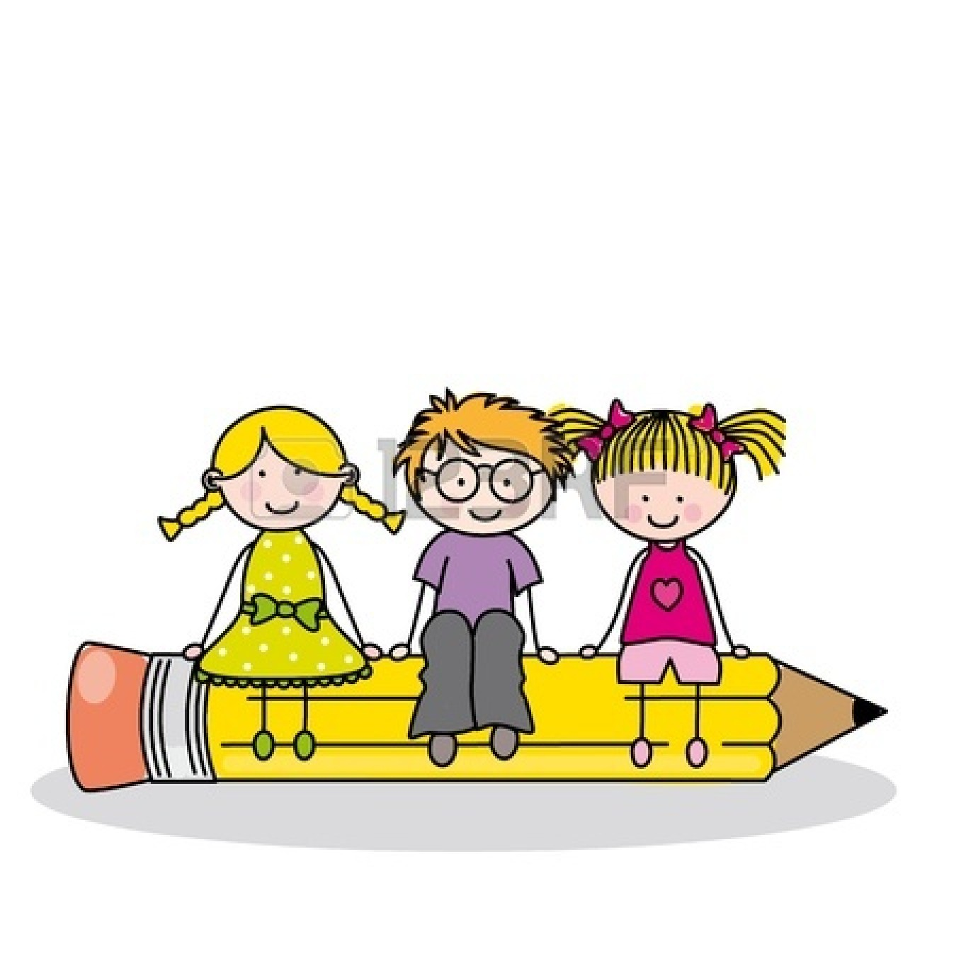 1350x1350 Kids Reading And Writing Clipart Clipartfest