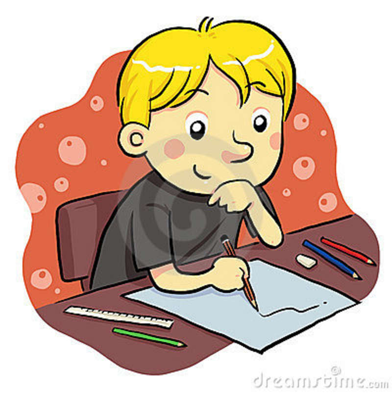 800x802 Kindergarten Writing Clipart