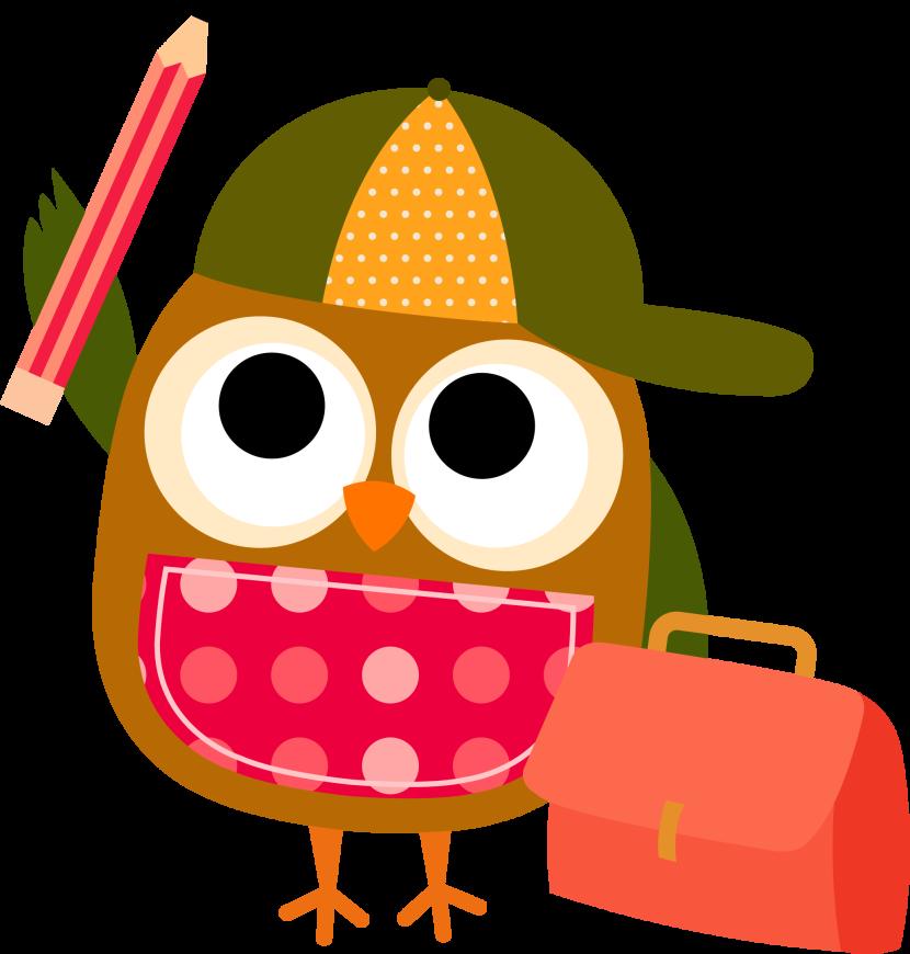 830x870 Writing Smart Owl Clip Art