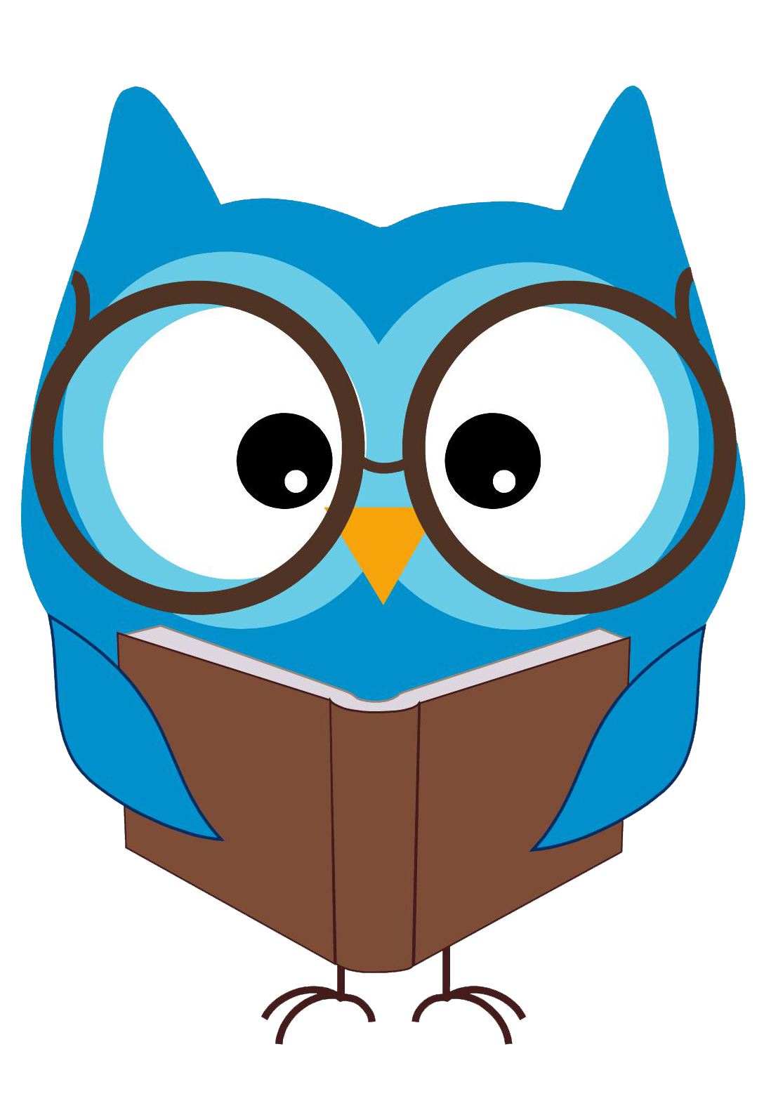 1088x1561 Owl Reading Book Clipart