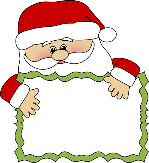 500x549 Santa Reading Clipart