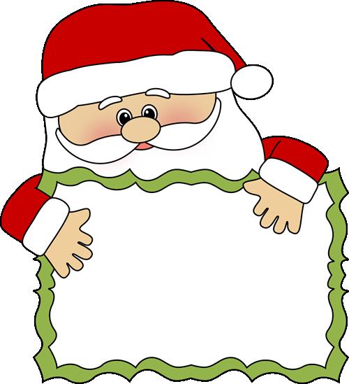 500x549 Santa Reading Clipart