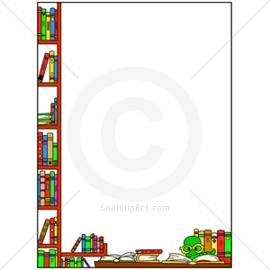 300x300 Clipart Books Border