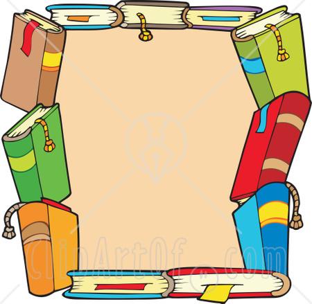 450x439 Book Border Clipart