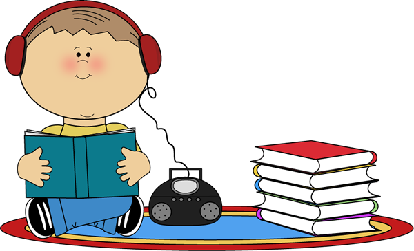 600x365 Boy Listening To Book On Cd Player Clip Art