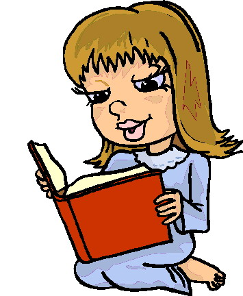 355x432 Clip art of students reading clipart 2 image