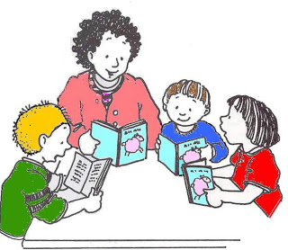 320x278 Guided reading clip art clipart