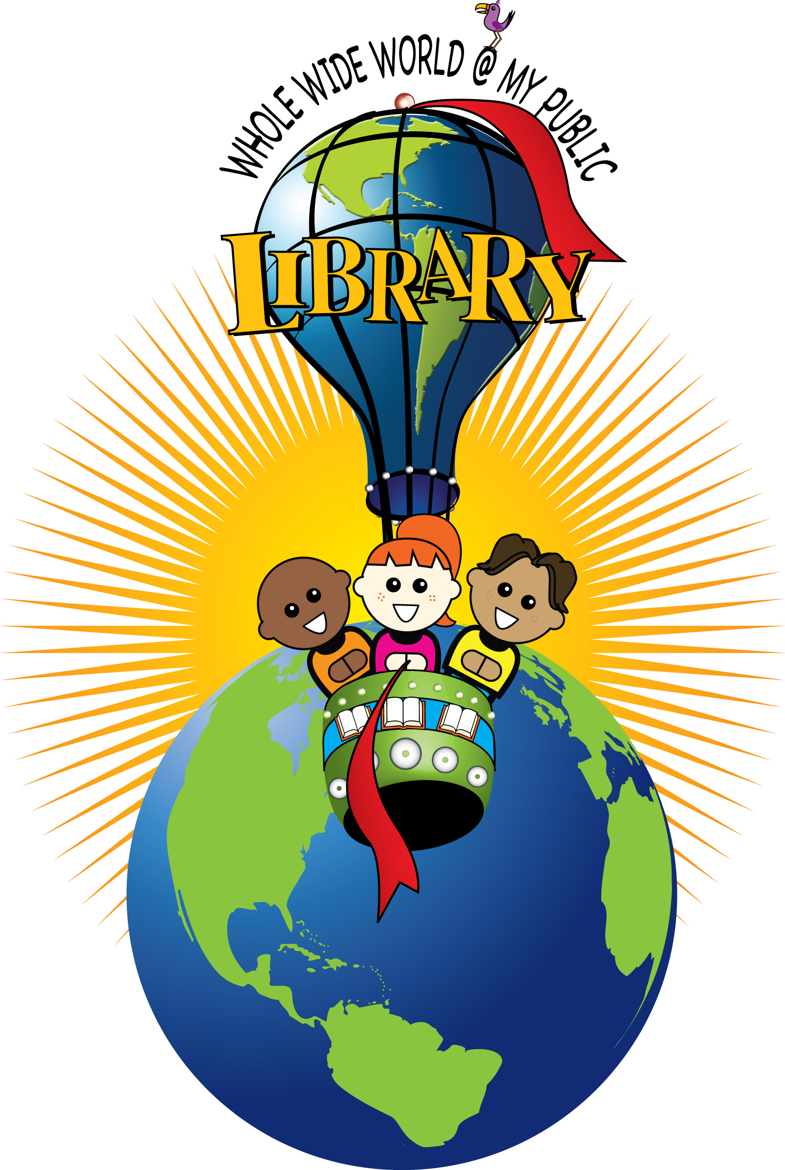1585x2361 Library summer reading clip art