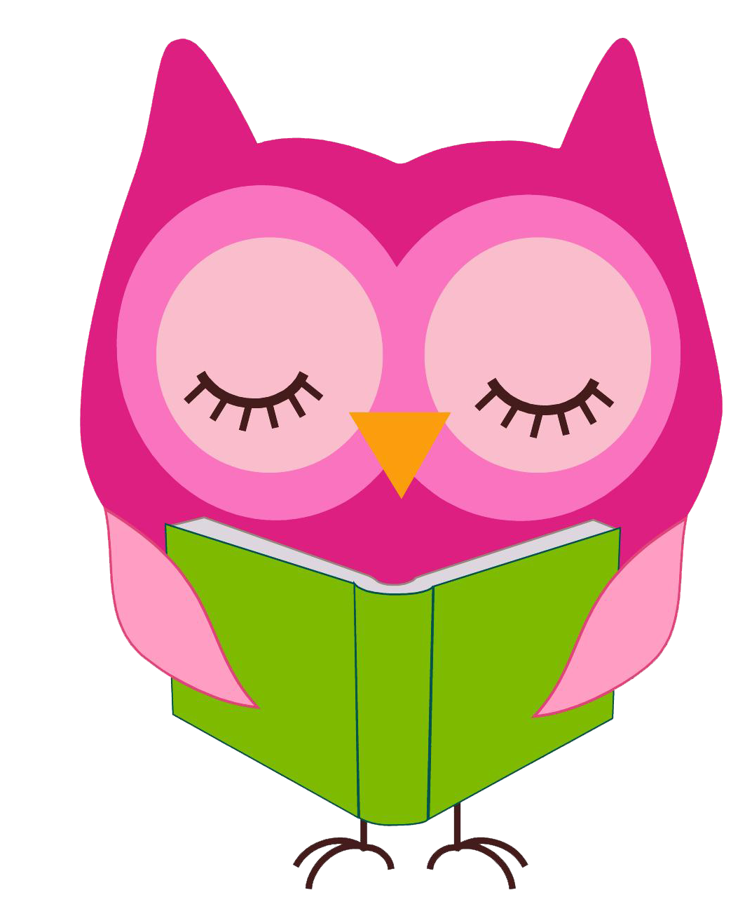 1073x1296 Owl Reading Clip Art
